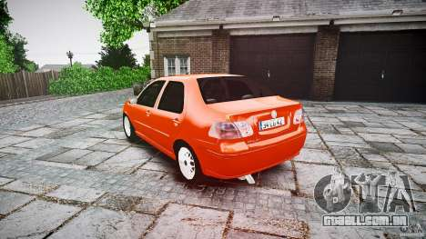 Fiat Albea Sole para GTA 4 traseira esquerda vista