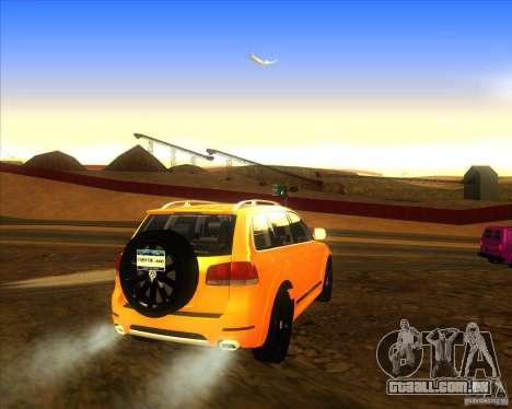 Volkswagen Touareg R50 para GTA San Andreas traseira esquerda vista