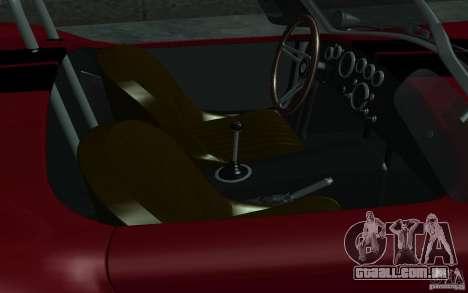 Shelby Cobra 427 para vista lateral GTA San Andreas