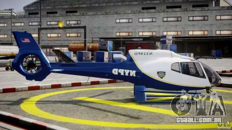 Eurocopter EC 130 NYPD para GTA 4 vista interior
