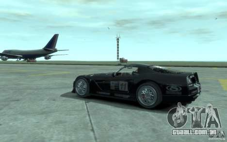 Dodge Viper Competition Coupe para GTA 4 vista direita