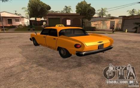 Glendale Cabbie para GTA San Andreas esquerda vista