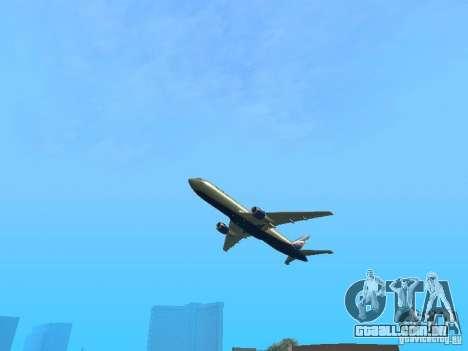 Boeing 767-300 Aeroflot para GTA San Andreas vista traseira