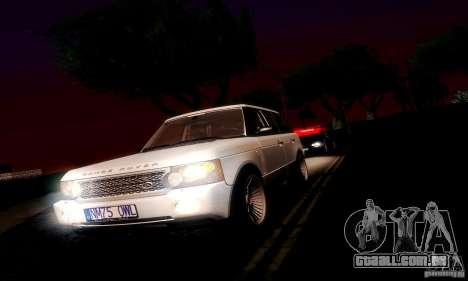 Range Rover Supercharged para GTA San Andreas vista traseira