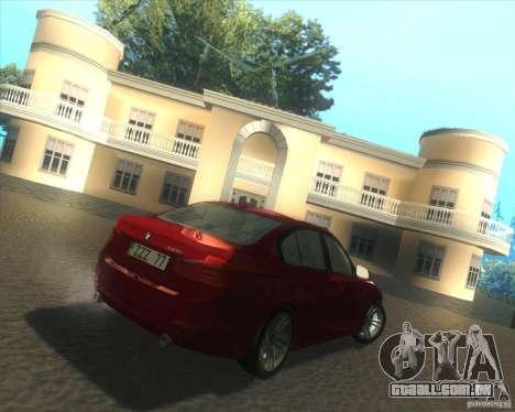 BMW 3 Series F30 2012 para GTA San Andreas vista direita
