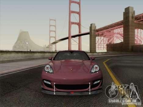 Porsche Panamera Turbo 2010 para GTA San Andreas vista inferior