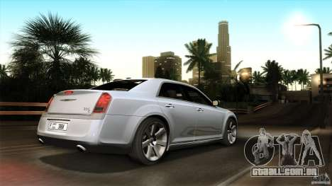 Chrysler 300C V8 Hemi Sedan 2011 para GTA San Andreas vista inferior
