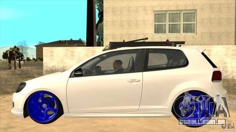 Volkswagen Golf MK6 Hybrid GTI JDM para GTA San Andreas esquerda vista