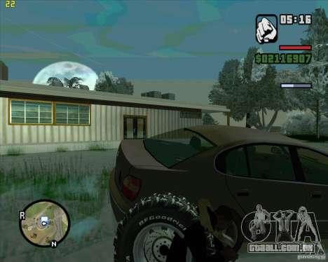 Pneus sobressalentes para GTA San Andreas segunda tela