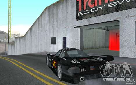 Mercedes-Benz CLK GTR road version (v2.0.0) para GTA San Andreas traseira esquerda vista