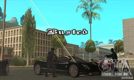 Pagani Zonda F Speed Enforcer BETA para GTA San Andreas vista superior