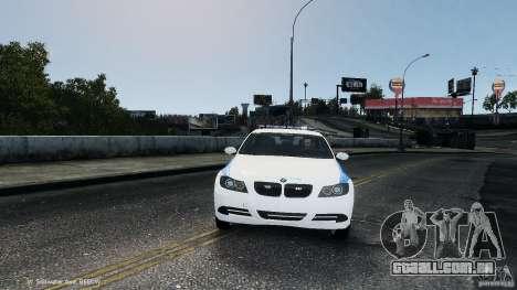 NYPD BMW 350i para GTA 4 vista de volta