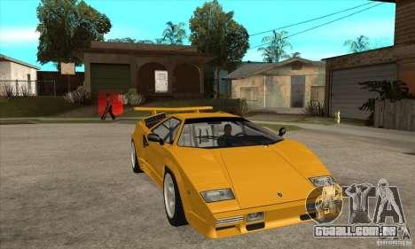 Lamborghini Countach para GTA San Andreas vista traseira