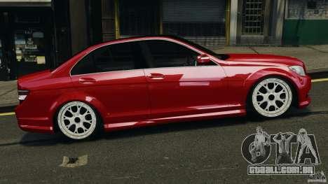 Mercedes-Benz C350 Avantgarde v2.0 para GTA 4 esquerda vista