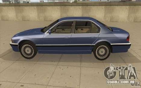 BMW 750iL 1995 para GTA San Andreas esquerda vista