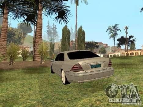 Mercedes-Benz S600 w200 para GTA San Andreas esquerda vista