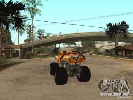 Monster Mutt para GTA San Andreas traseira esquerda vista