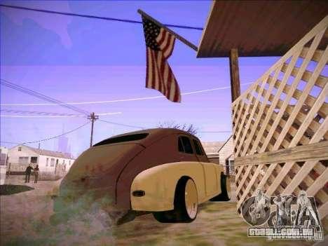 GAZ m 20 vencendo 1956 para GTA San Andreas traseira esquerda vista