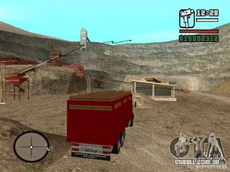 Ford Cargo 3227 para GTA San Andreas traseira esquerda vista