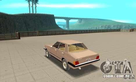 Ford Taunus 1978 para GTA San Andreas traseira esquerda vista
