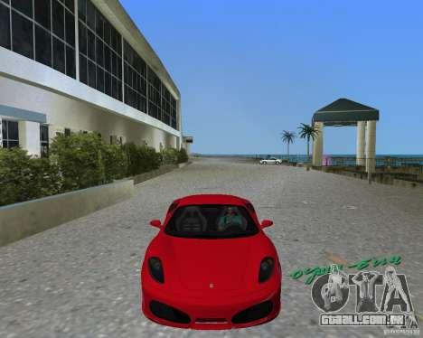 Ferrari F430 para GTA Vice City vista traseira esquerda