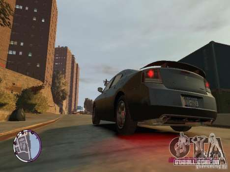 Dodge Charger SRT8 2007 FBI para GTA 4 esquerda vista
