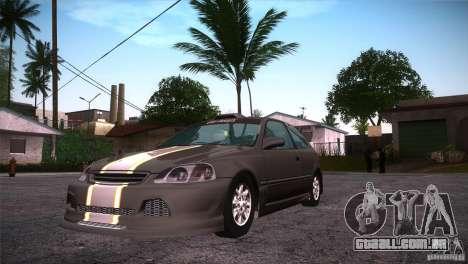 Honda Civic Tuneable para GTA San Andreas vista interior