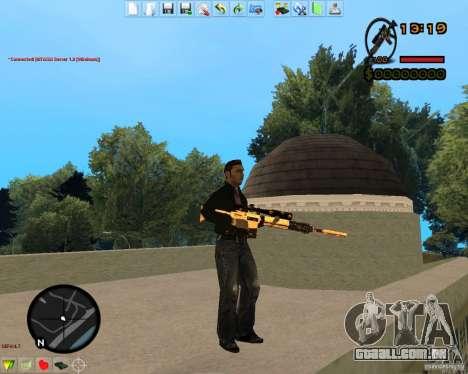 Smalls Chrome Gold Guns Pack para GTA San Andreas décimo tela