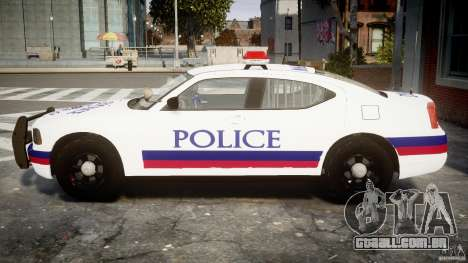 Dodge Charger Karachi City Police Dept Car [ELS] para GTA 4 esquerda vista