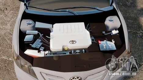 Toyota Camry Altise 2009 para GTA 4 vista interior