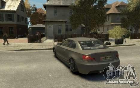 BMW 135i para GTA 4 traseira esquerda vista