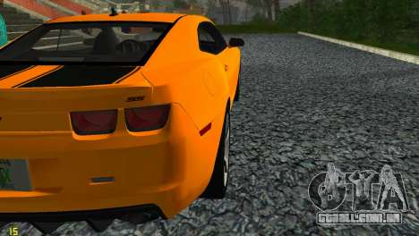 Chevrolet Camaro SS 2010 para GTA Vice City vista traseira