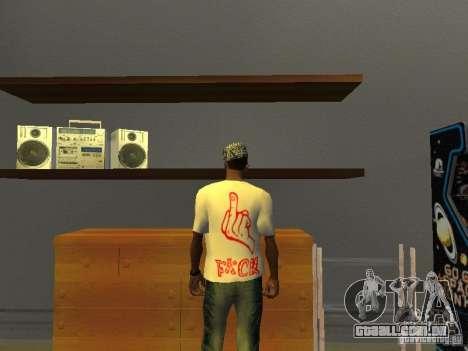 T-shirt gangsta para GTA San Andreas segunda tela
