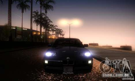 BMW Alpina B12 850i para GTA San Andreas vista interior