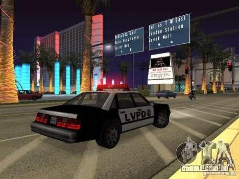 LVPD Police Car para vista lateral GTA San Andreas