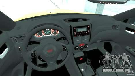 Subaru Impreza WRX STi 2011 Subaru World Rally para GTA 4 vista direita