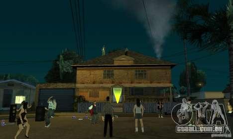 Projeto x na Grove Street para GTA San Andreas por diante tela