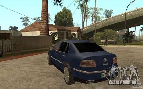 Volkswagen Phaeton 2005 para GTA San Andreas traseira esquerda vista