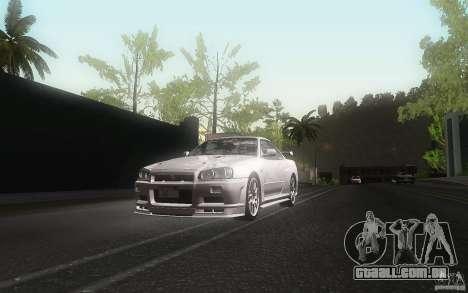 Nissan Skyline GT-R R34 M-spec Nur para vista lateral GTA San Andreas