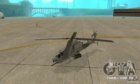 Hunter - AH-1Z Cobra para GTA San Andreas