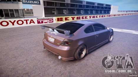 Toyota Scion TC 2.4 Tuning Edition para GTA 4 vista superior