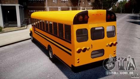 School Bus [Beta] para GTA 4 traseira esquerda vista