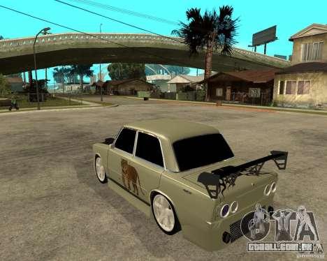 Vaz 2101 D-LUXE para GTA San Andreas esquerda vista