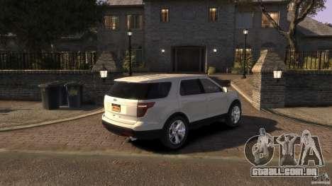 Ford Explorer 2011 para GTA 4 esquerda vista