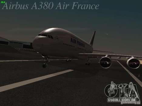 Airbus A380-800 Air France para GTA San Andreas esquerda vista