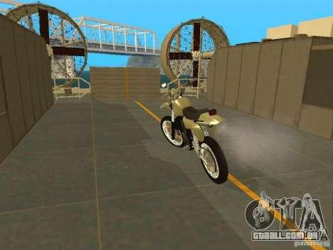 Čezet da motocicleta para GTA San Andreas traseira esquerda vista