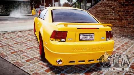 Ford Mustang SVT Cobra v1.0 para GTA 4 traseira esquerda vista