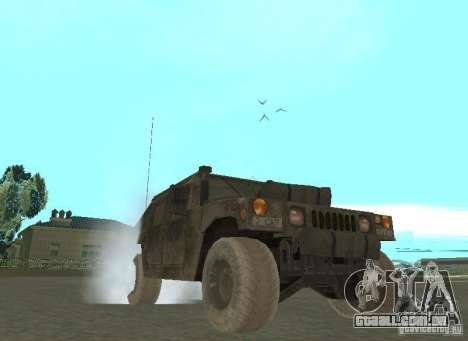 Hummer Cav 033 para GTA San Andreas vista traseira