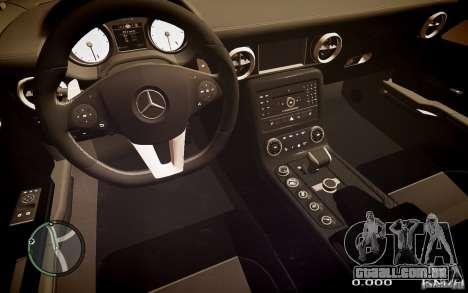 Mercedes-Benz SLS63 AMG para GTA 4 traseira esquerda vista