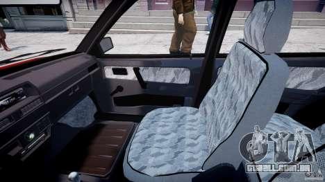 Vaz-21093i para GTA 4 vista interior